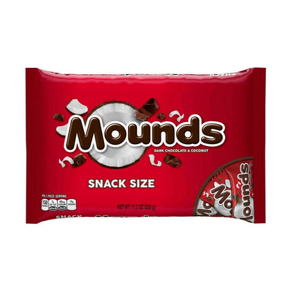 Mounds Dark Chocolate Snack Sized Candy Bars, 11.3oz