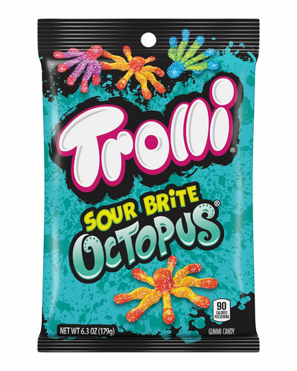 Trolli Sour Brite Octopus Gummi Candies, 6.3 Oz