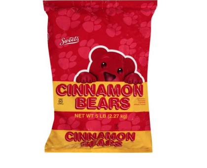 Sweet's Cinnamon Bears, 5lb Bag