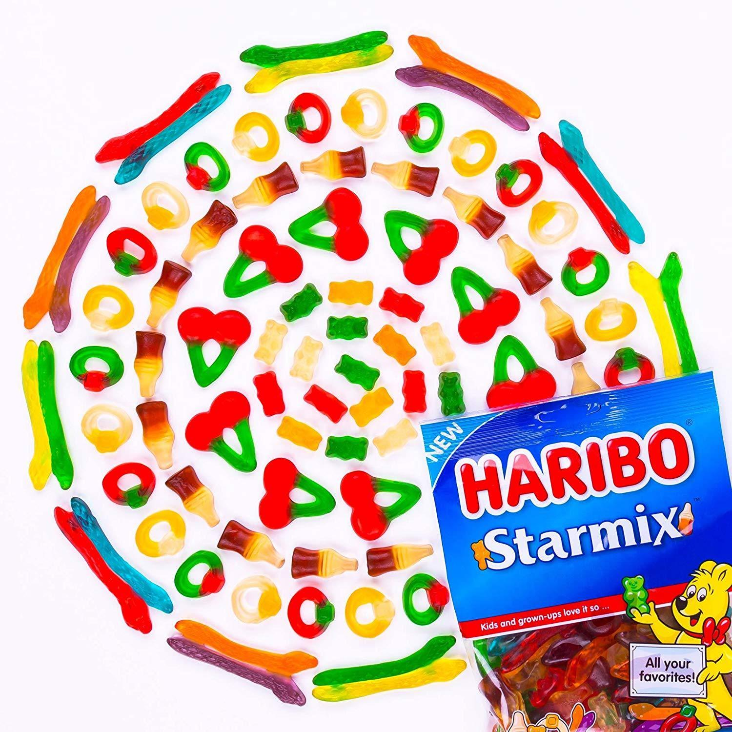 Haribo Starmix Gummi Candy, 8oz Bag