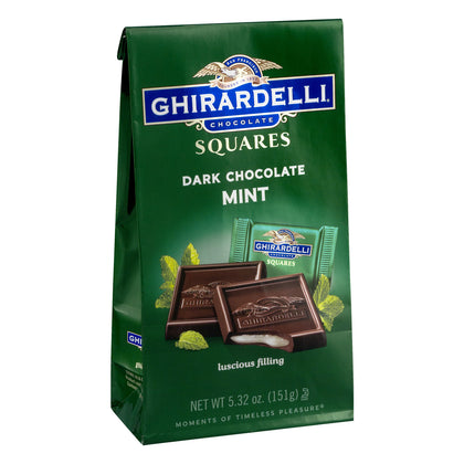 Ghirardelli Squares Dark & Mint Dark Chocolates, 5.32 Oz
