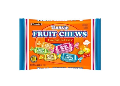 Tootsie Fruit Chews Assorted Fruit Rolls, 11.5oz Bag