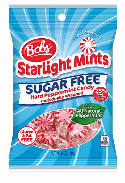 Bobs Sugar Free Starlight Mints Candy, Peppermint Flavor, 6 oz