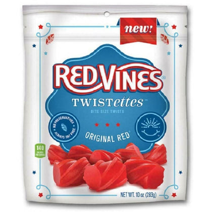 Red Vines Twistettes Bite Size Original Red Licorice, 10 Oz
