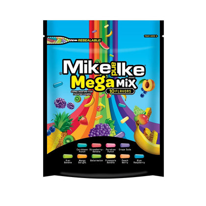 Mike and Ike Mega Mix 10 Flavors, 10oz Bag