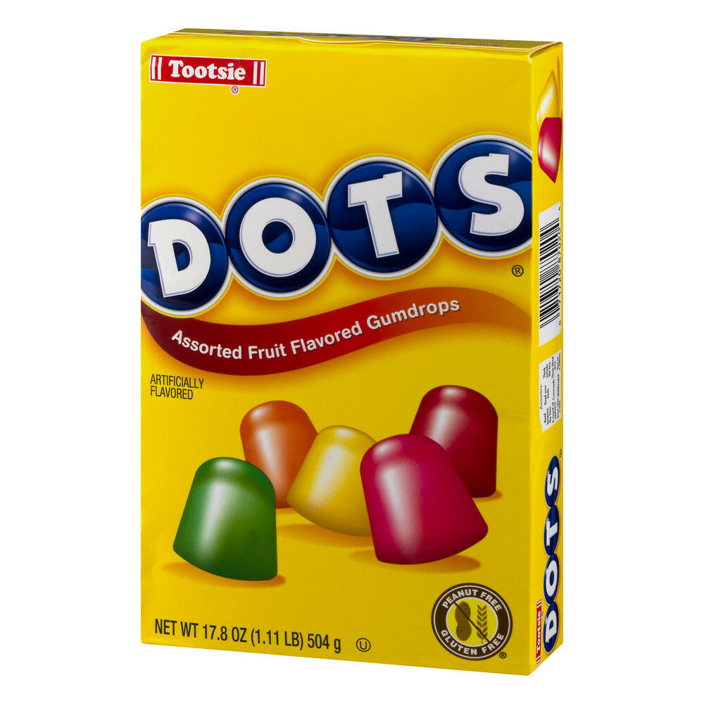 Tootsie Dots Assorted Fruit Flavored Gumdrops Giant Box, 17.8oz