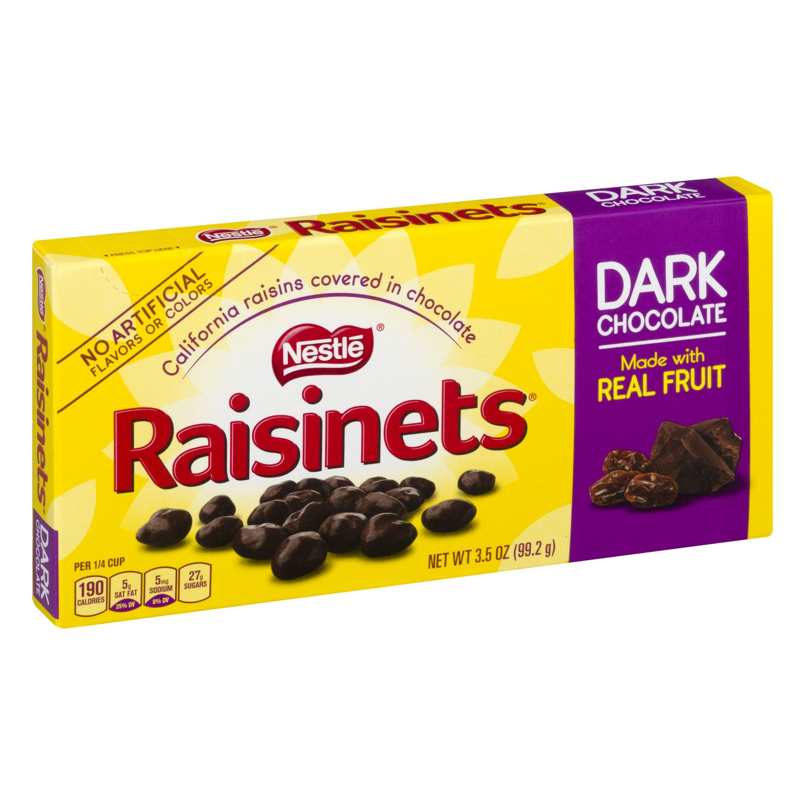 Raisinets California Raisins Covered in Dark Chocolate, 3.5oz Box