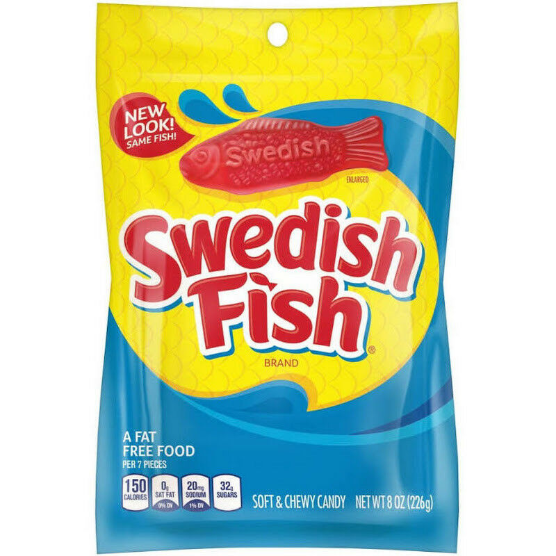 Swedish Fish Soft and Chewy Candy, 8oz Bag