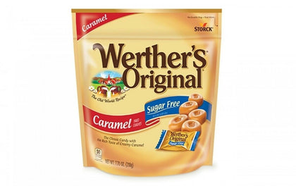 Werther's Original Sugar Free Caramel Hard Candies, 7.7oz Bag