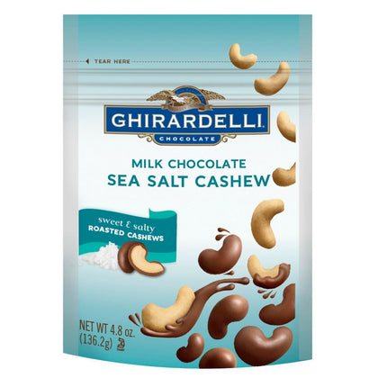 Ghirardelli Milk Chocolate Sea Salt Cashew, 4.8oz Bag