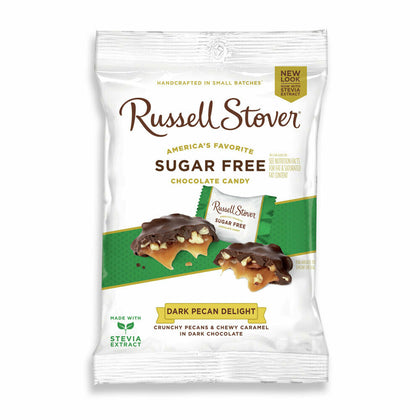Russell Stover Sugar-Free Dark Chocolate Pecan Delights, 3 Oz