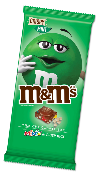 M&M'S Minis, Crispy Mint & Milk Chocolate Candy Bar, 3.8 Oz