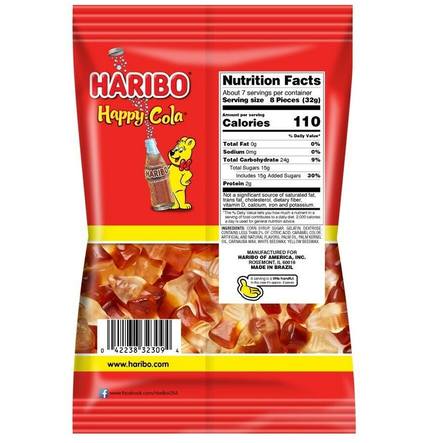 Haribo Happy Cola Gummi Candy, 8oz