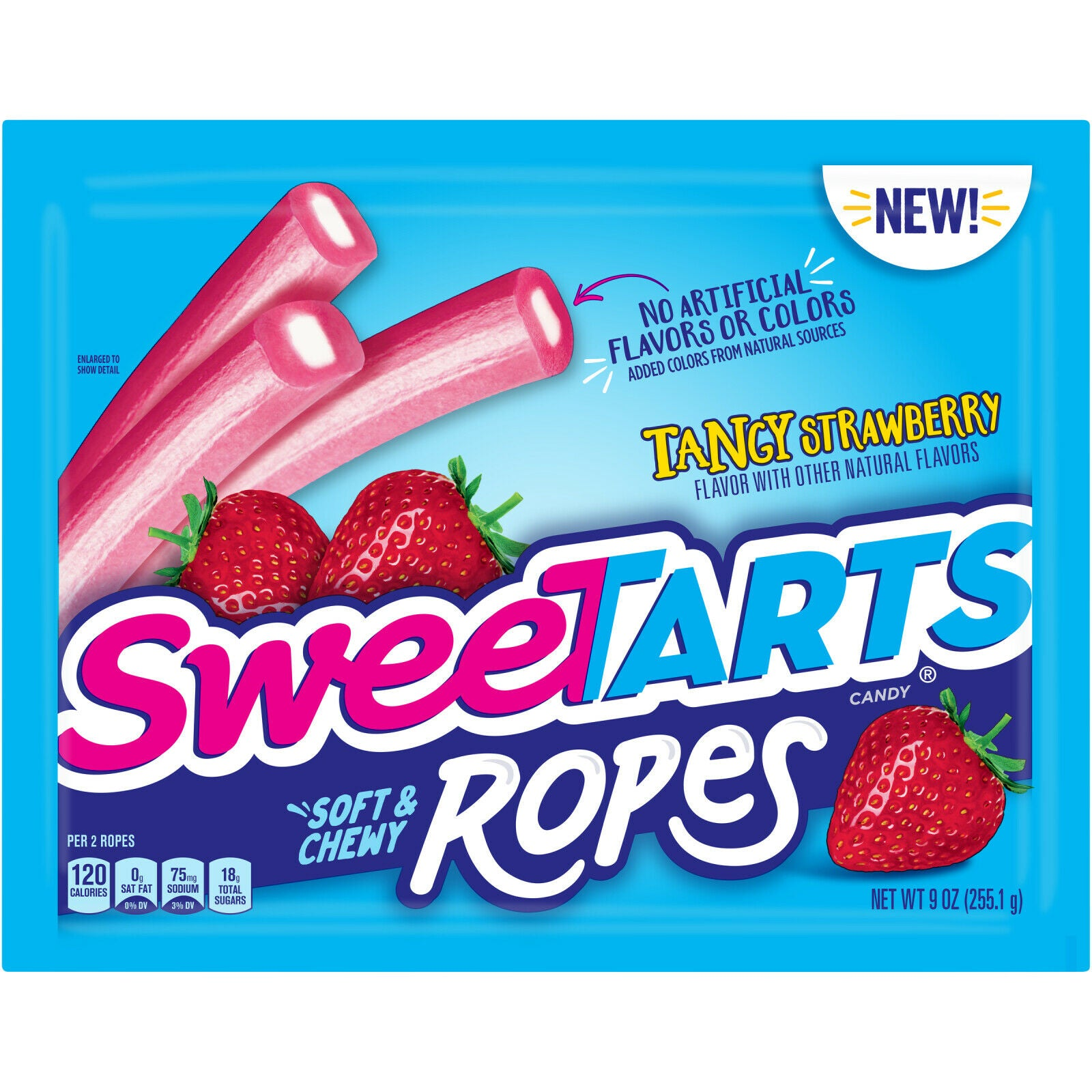 SweeTarts, Soft & Chewy Tangy Strawberry Ropes, 9oz