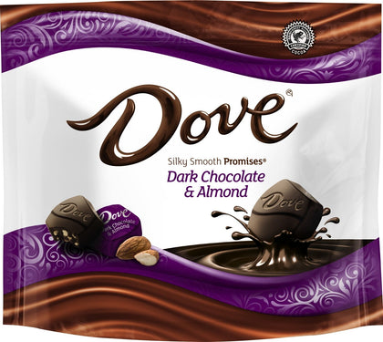 Dove Dark Chocolate & Almond Silky Smooth Promises, 7.61oz Bag
