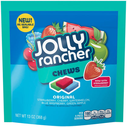 Jolly Rancher Chews Original Flavor Assortment Candy, 13 Oz