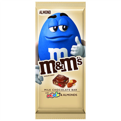 M&M'S Minis, Almond & Milk Chocolate Candy Bar, 3.9 Oz