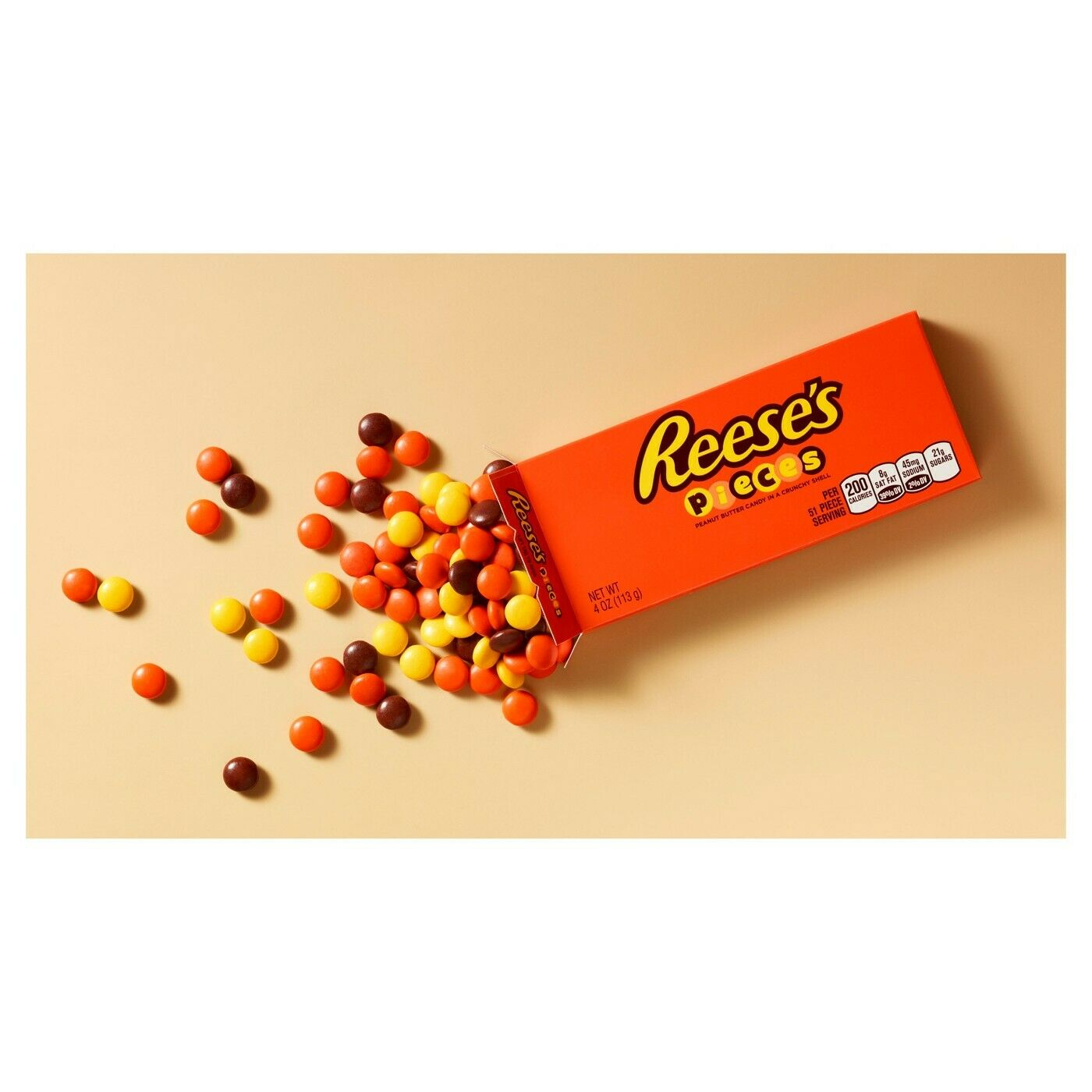 Reese's Pieces Peanut Butter Candies, Theater Box, 4oz