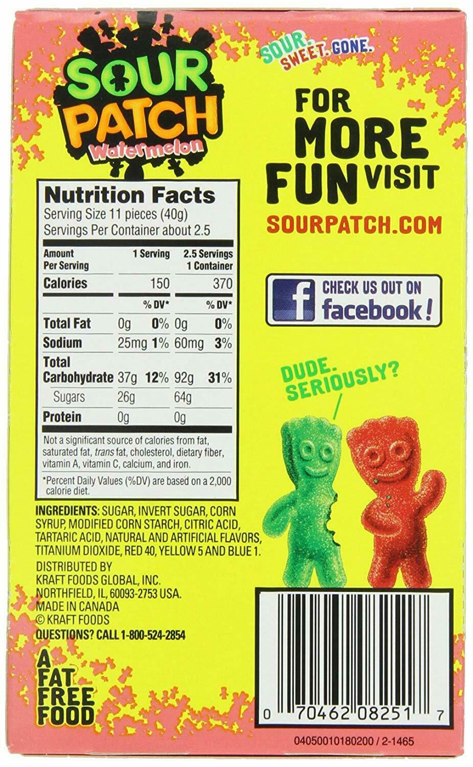 Sour Patch Kids Candy, Watermelon, Theater Box, 3.5oz