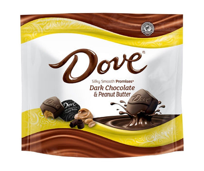 Dove Dark Chocolate & Peanut Butter Silky Smooth Promises, 7.61oz Bag