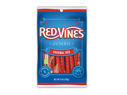 Red Vines Jumbo Twists, Original Red, 8oz