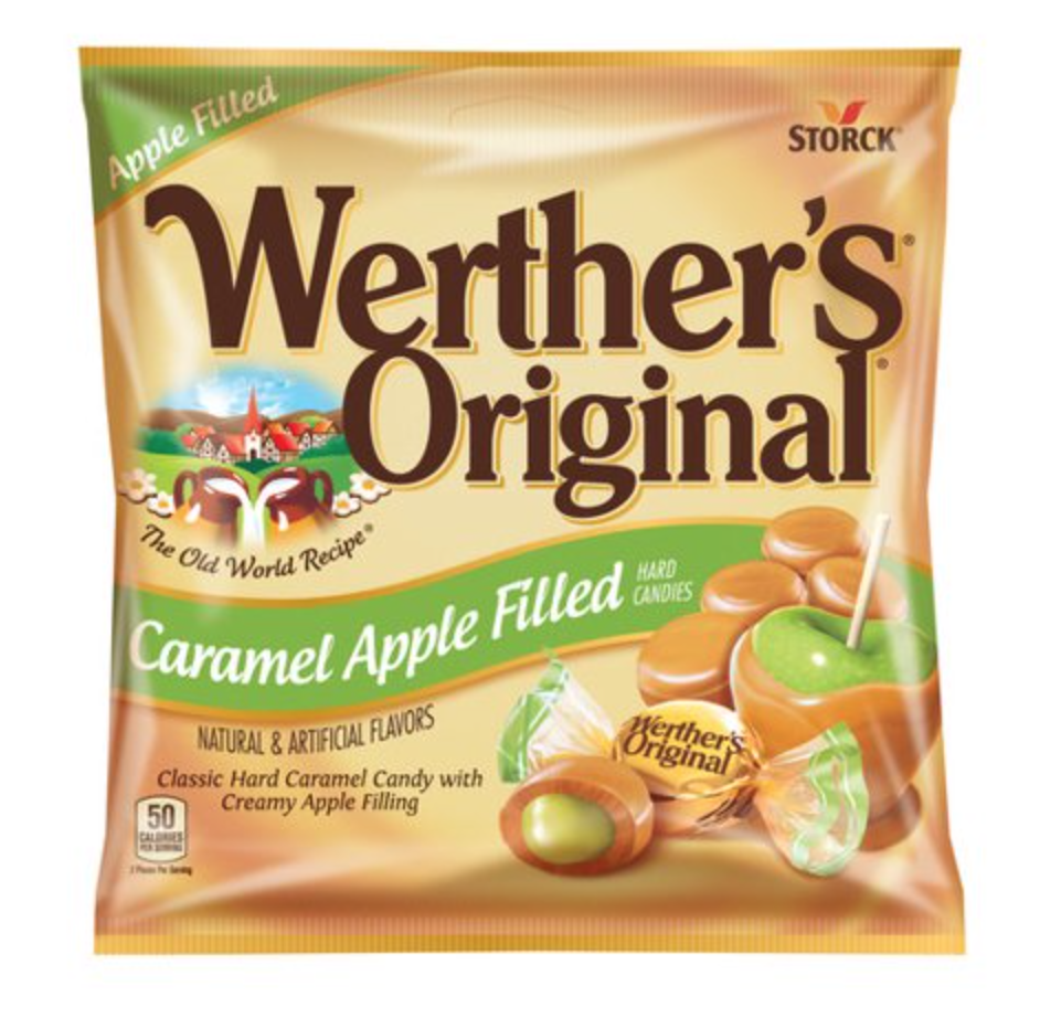 Werther's Original Caramel Apple Filled Hard Candies, 5.5 Oz
