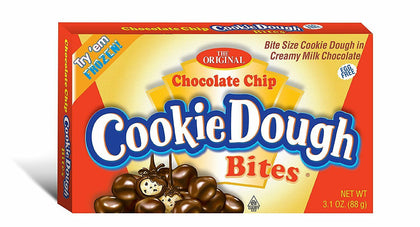 The Original Chocolate Chip Cookie Dough Bites, 4oz Theater Box