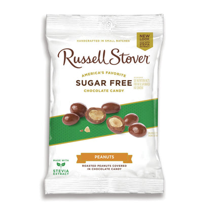 Russell Stover Sugar Free Chocolate Covered Peanuts, 3.6oz Bag