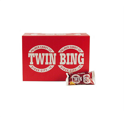 Twin Bing Cherry Candy Bar By Palmer Candy, 1 7/8 oz, 36 Ct