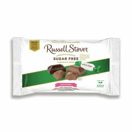 Russell Stover Sugar Free Chocolate Miniatures Variety, 9oz Bag