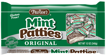 Pearson's Dark Chocolate Mint Patties Candy, 12 Oz