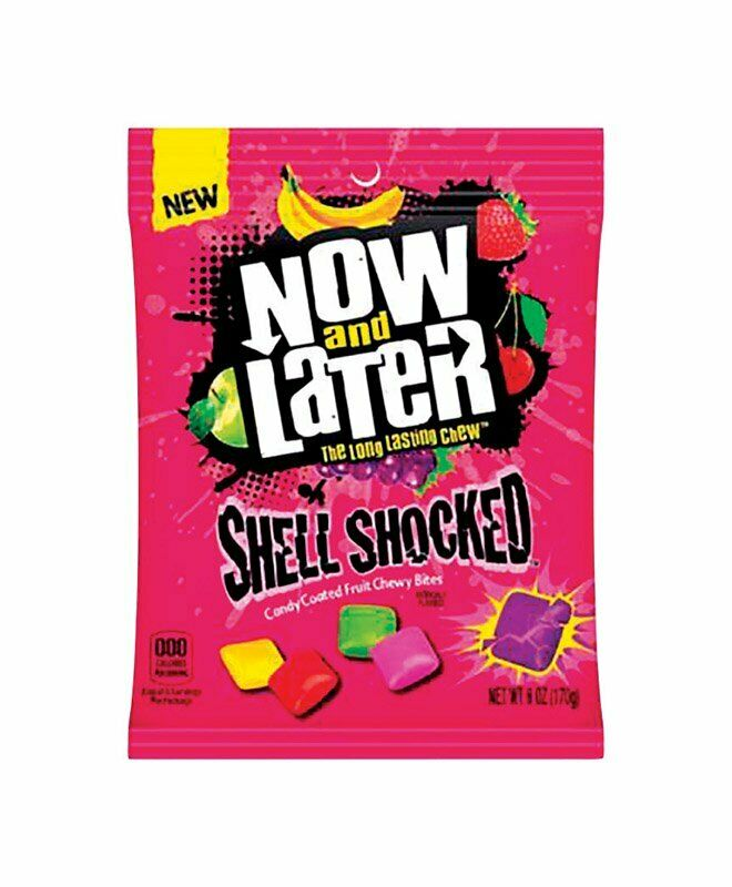 Now and Later Sour Shell Shocked Candy Coated Chewy Bites, 6oz Bag