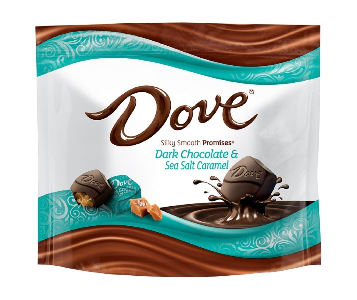Dove Dark Chocolate & Sea Salt Caramel Silky Smooth Promises, 7.61oz Bag