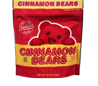Sweet's Cinnamon Bears, 16oz Bag