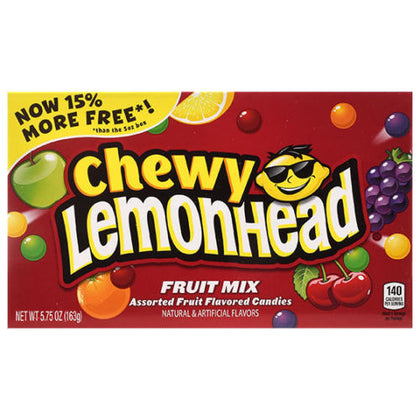 Chewy Lemonhead Fruit Mix Assorted Fruit Flavored Candies, 5.75oz Box