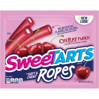 Sweetarts Soft & Chewy Ropes, Cherry Punch, 9oz