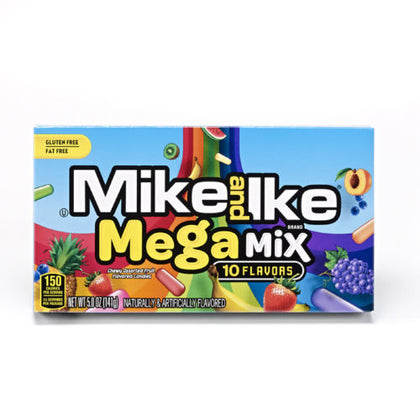 Mike and Ike Mega Mix 10 Flavors, 5oz Theater Box