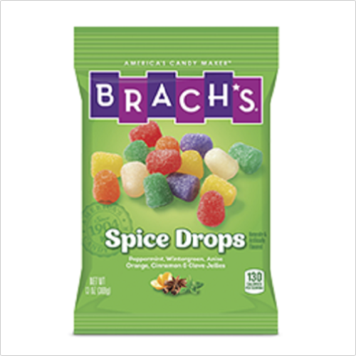 Brachs Spice Drops Jelly Candies in 6 Delicious Flavors, 13oz Bag