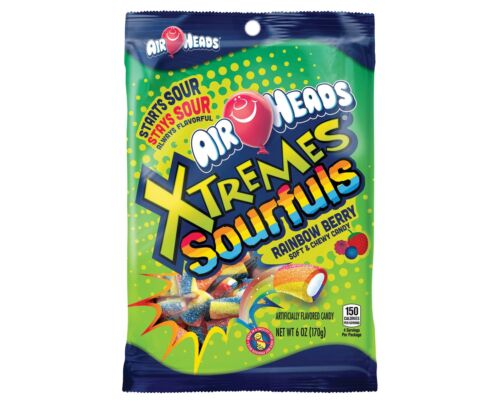 Airheads Xtremes Sourfuls Rainbow Berry Chewy Candy, 6oz Bag