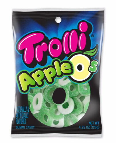 Trolli Apple O's, Sour Green Apple Flavor, 4.25oz Bag