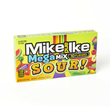 Mike and Ike SOUR Mega Mix 10 Flavors, Theater Box, 5oz