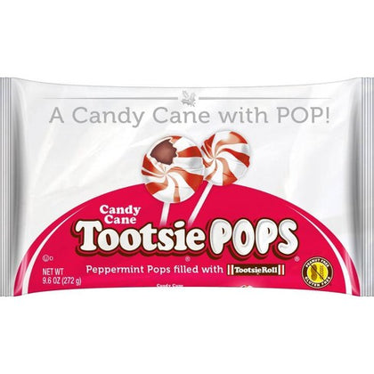 Tootsie Pops Candy Cane Peppermint Pops, 9.6oz