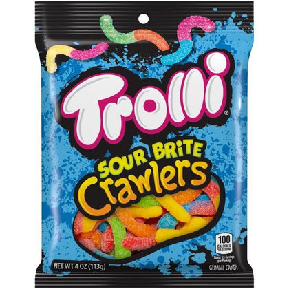Trolli Sour Brite Crawlers 4oz Peg Bag