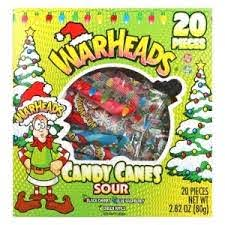 Warheads Mini Sour Candy Canes 20 pcs, 2.82oz