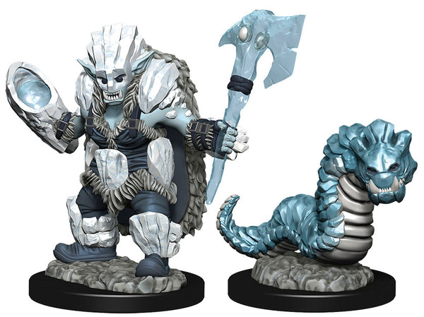 WizKids Wardlings: W4 Ice Orc & Ice Worm