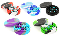 Silicone Round Dice Case: Purple/Grey/Light Blue
