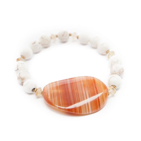 crazy lace agate bracelet with magnesite