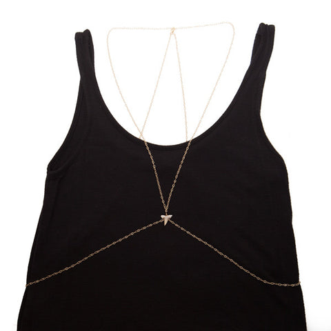 body chain with sharks tooth - 'maui'
