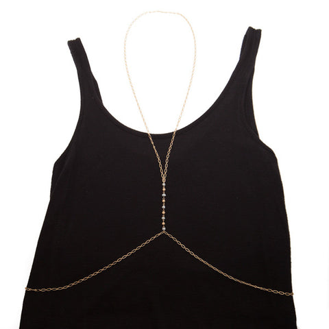 body chain with moonstone - 'zara'