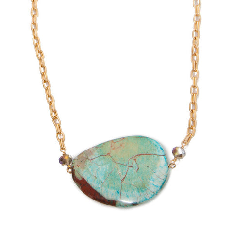 'julia' necklace with picasso jasper